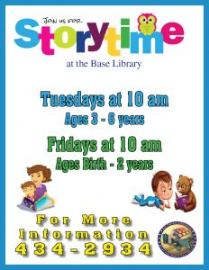 Storytime at the Library (Ages 3 - 6) @ Library