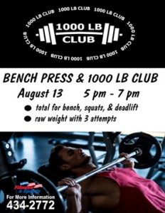 Bench Press & 1000 lb club