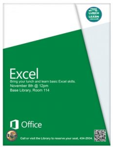Lunch and Learn: Excel @ Library
