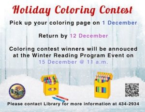 Holiday Coloring Contest @ Library