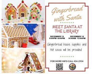 Gingerbread with Santa @ Library