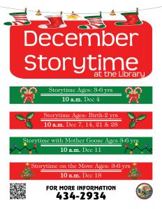December Storytime @ Library