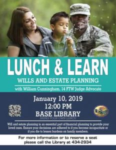 Lunch and Learn: Will and Estate @ Library