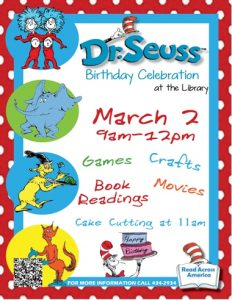 Dr. Seuss Birthday Celebration @ Library
