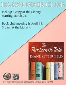 BLAZE BOOK CLUB @ Library