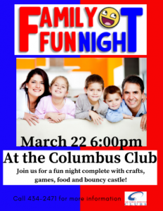 Family Fun Night @ Columbus Club