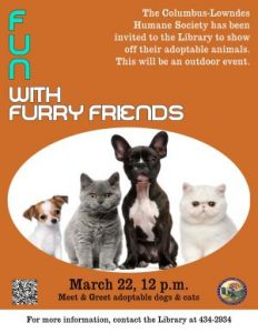 Fun with Furry Friends @ Library