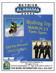 Skydiving Trip @ Outdoor Recreation
