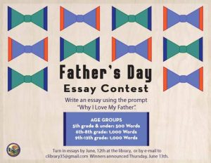 Copy of Father's Day Essay Contest, June 2019 HORI