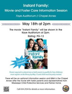 Copy of Instant Family Movie and Info Session, May 2019