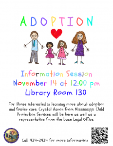 Adoption Information Session @ Library