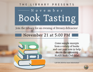Book Tasting @ Library