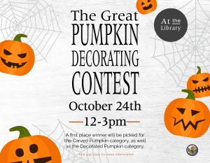 The Great Pumpkin Decorating Contest @ Library