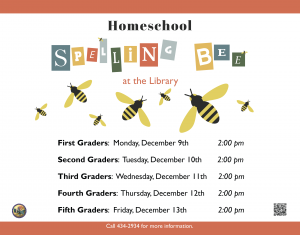 Homeschool Spelling Bee @ Library