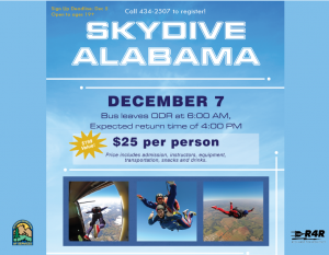 Skydiving Trip @ OutDooor Recreation