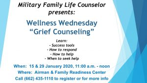 Wellness Wednesday-Grief Counseling