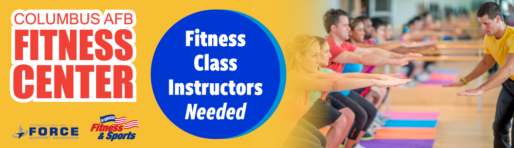 Accredited Fitness Class Instructors Needed