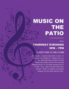 Music on the Patio @ A&FRC
