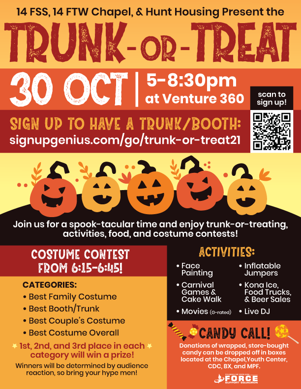 Trunk or Treat October 30 2021